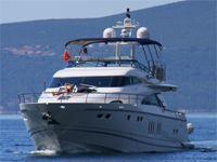 Черногория. Прогулочная яхта.