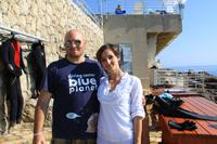 "Diving in Croatia. Guys from dive-center ""Blue Planet"""